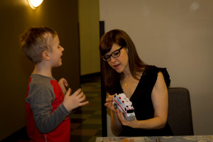 Beckett with Lisa Loeb in Chicago!